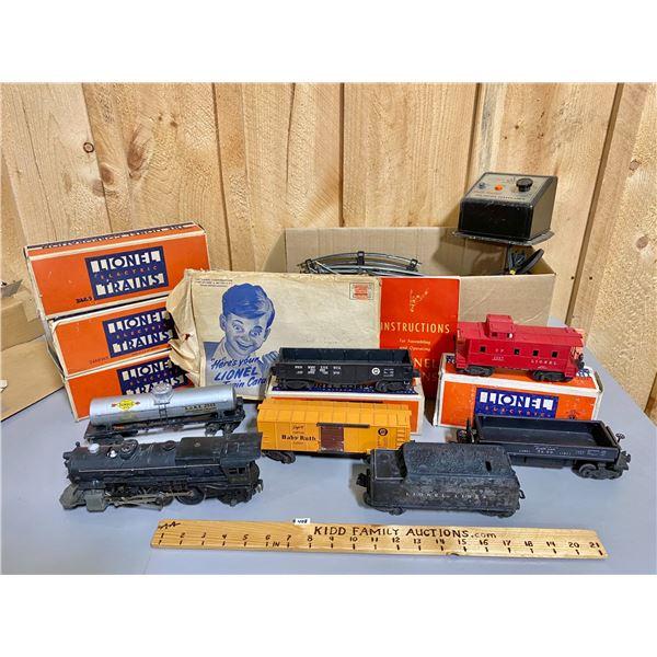 LIONEL ELECTRIC TRAIN SET W/ TRACK & CONTROLLER & MANUALS