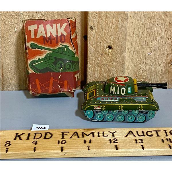 TIN MILITARY M-10 TANK W / ORIG BOX