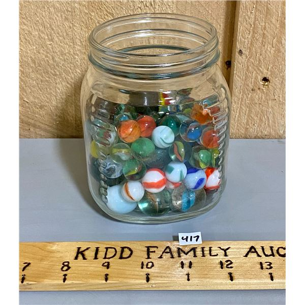 QTY OF MISC VINTAGE MARBLES