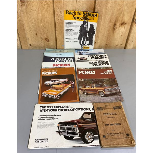 MISC FORD ADVERTISING / MANUALS