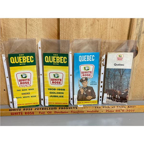 WHITE ROSE COLLECTIBLES LOT - YARDSTICK & QUEBEC MAPS