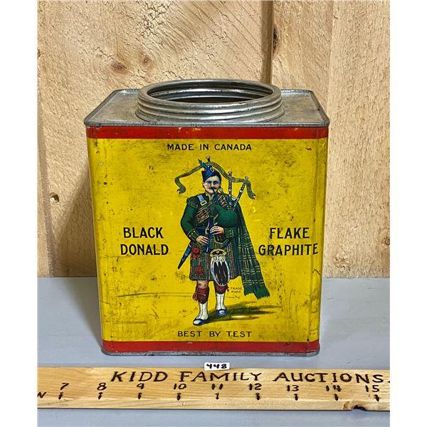 BLACK DONALD - CANADA - 5 LB FLAKE GRAPHITE TIN