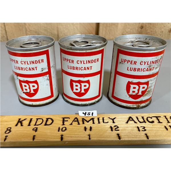 LOT OF 3 BP 4 OUNCE LUBRICANT CANS