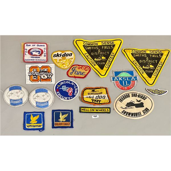 LOT OF 16 SKI-DOO AND AUTOMOTIVE PATCHES
