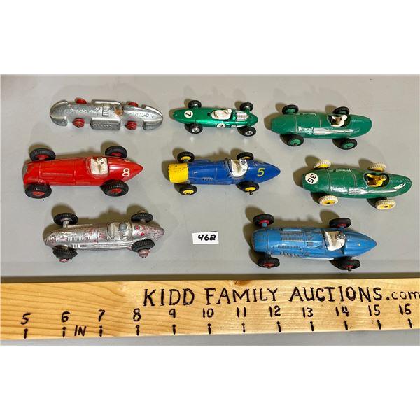 LOT OF 8 DINKY RACE CARS