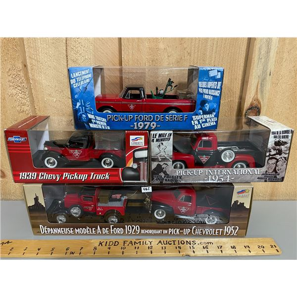 LOT OF 4 CANADIAN TIRE 1/24 SCALE DIECAST TRUCKS