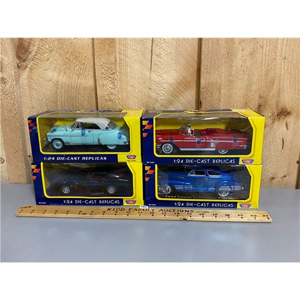 LOT OF 4 MOTOR MAX 1/24 SCALE DIECAST CARS