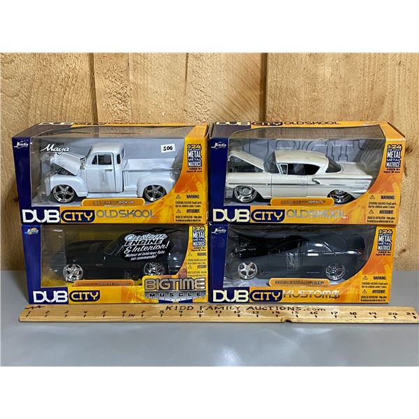 LOT OF 4 - 1/24 SCALE VEHICLES