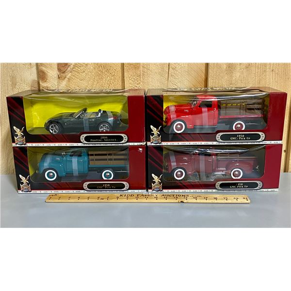 LOT OF 4 - 1/18 SCALE YATMING DIECAST CLASSIC VEHICLES