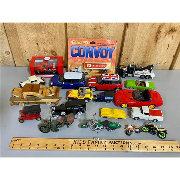 LOT OF MISC TOY VEHICLES