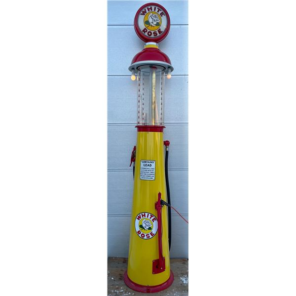 WHITE ROSE CLEAR VISION GAS PUMP - RESTORED