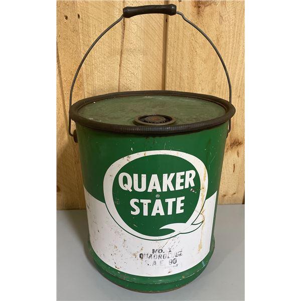 QUAKER STATE OIL PAIL - ? 20 LITER