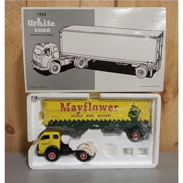 1/34 SCALE 1953 WHITE 300 TRACTOR TRAILER