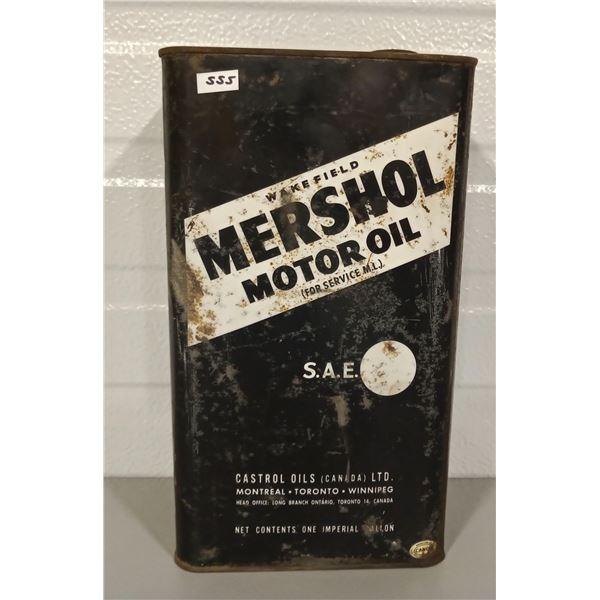 WAKEFIELD MERSHOL MOTOR OIL 1 GALLON CAN