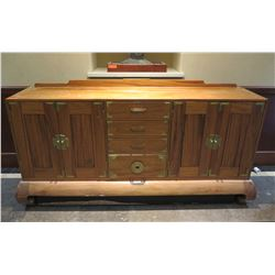 """Wooden Sideboard Buffet w/ 2 Side Cabinets & 4 Drawers 80""""Lx21""""wx40""""H"""