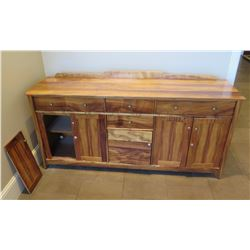 """Wooden Sideboard Buffet w/ 2 Side Cabinets & 6 Drawers 79""""Lx23""""wx36""""H"""