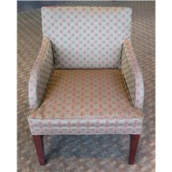 """Wooden Upholstered Lounge Armchair 24""""Lx20""""Wx34""""H"""