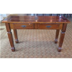 """Wooden Console Table w/ 2 Under Drawers 49""""Lx18""""Wx29""""H"""