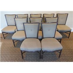 """Qty 10 McGuire Wooden Upholstered Chairs 22""""Lx19""""Wx37""""H"""