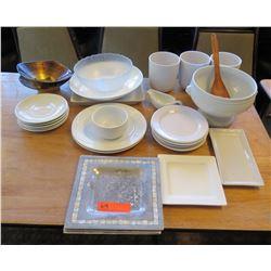 Misc Serveware: Round & Square Plates, Bowls, Soup Tureen, Gravy Boat, etc