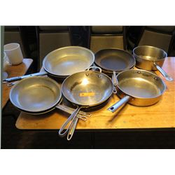 Qty Approx 9 Frying Pans Misc Sizes & Sauce Pot