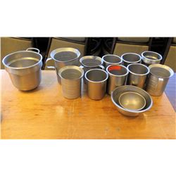 Multiple Metal Pitchers, Soup Warmer Containers, Mixing Bowls, etc