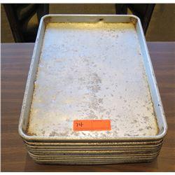 """Qty 12 Baking Pans 18""""Lx12""""W"""