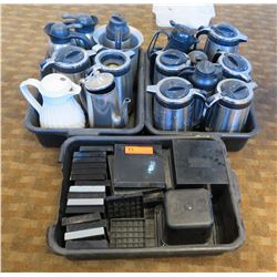 Approx. 14 Qty Coffee Carafes & Misc. Trays