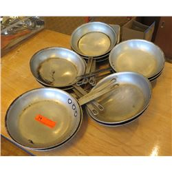 Approx. 12 Qty Frying Pans, Misc Sizes