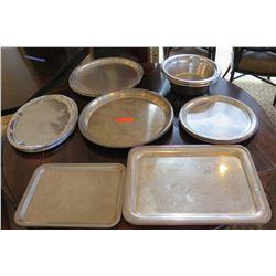 Multiple Serving Platters Misc Shapes & Sizes & 3 Bowls