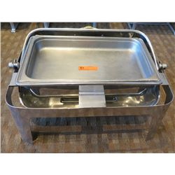 """Rectangle Chafing Dish w/ Attached Dome Lid 21""""Lx15""""Wx15""""H (Open)"""