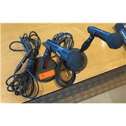 Qty 2 SHURE BG P-51 Corded Microphones w/ Stands