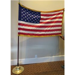 United States of America Flag on Pedestal Base (damage where pole meets the base)