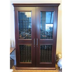 """Freestanding 'Wine Cellar' Cabinet, Holds 190 Bottles (Cooling Unit Non-Functioning) 56""""Lx28""""Wx90""""H"""