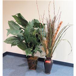 Qty 2 Tall Artificial Plants