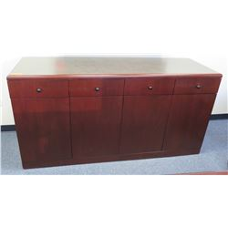 Wooden Sideboard Buffet w/ 4 Cabinets & 4 Drawers