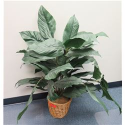 Potted Tall Leafy Artificial Plant