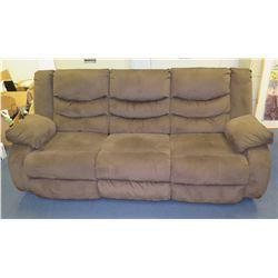 "Brown 3 Seat, 2 Reclining Sofa 86""Lx24""Wx40""H"