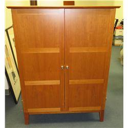 "Wooden 2 Door / 3 Section Storage Cabinet 40""Lx23""Wx53""H"