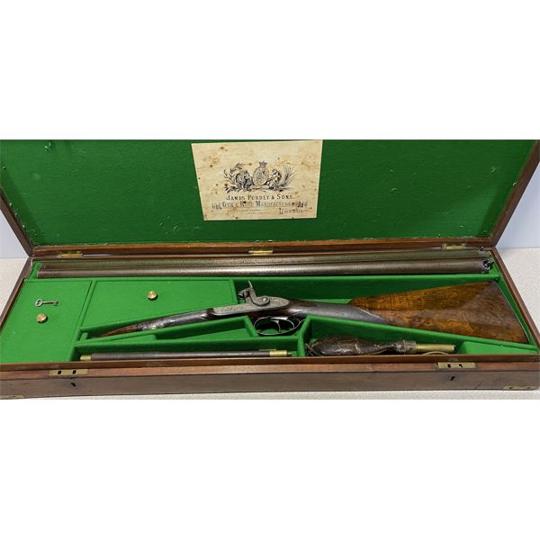 JAMES PURDEY AND SONS 14 BORE SxS PERCUSSION