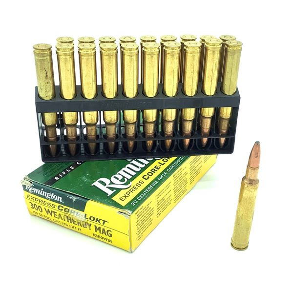 Remington Express Core-Lokt 300 Weatherby Mag Ammunition - 20 Rnds