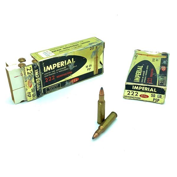 Imperial 222 Rem Ammunition - 28 Rnds