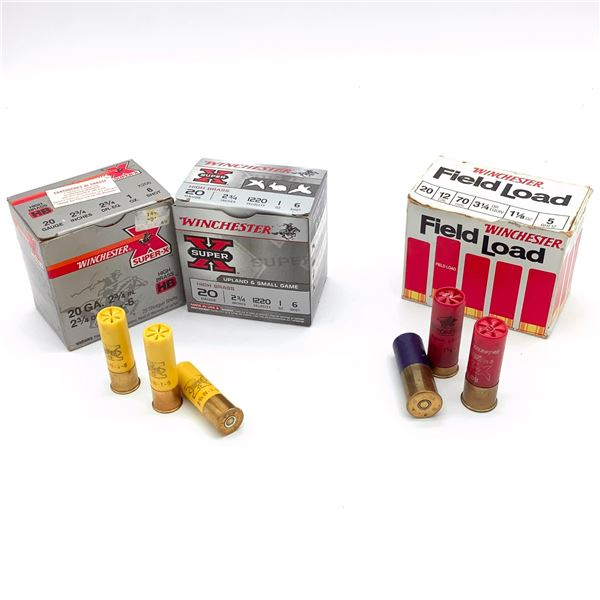 Assorted 20 Ga & 12 Ga ammunition - 52 Rnds