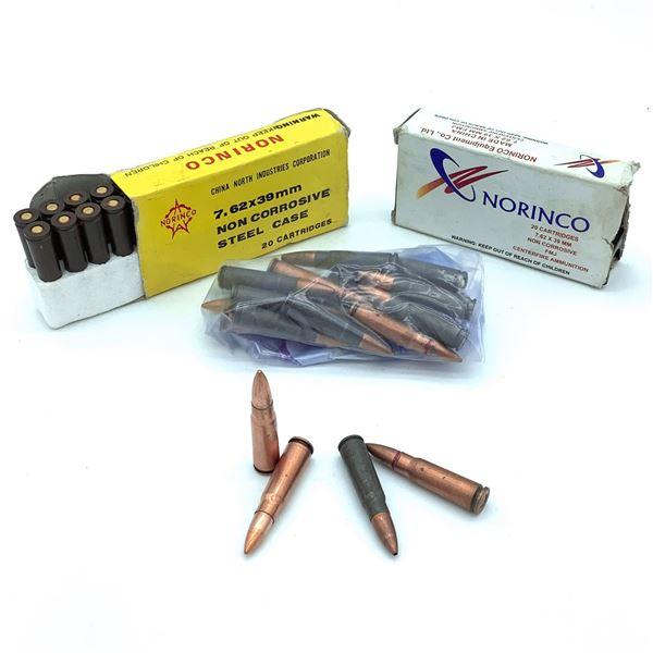 Assorted 7.62 x 39 Ammunition - 48 Rnds