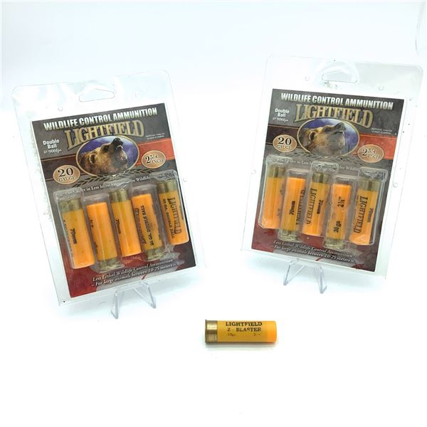 "Lightfield 20 Ga, 2 3/4"" Double Ball Ammunition - 11 Rnds"