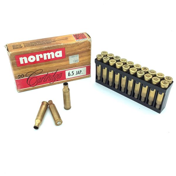 6.5 Japanese Casings - 40 Empty Casings