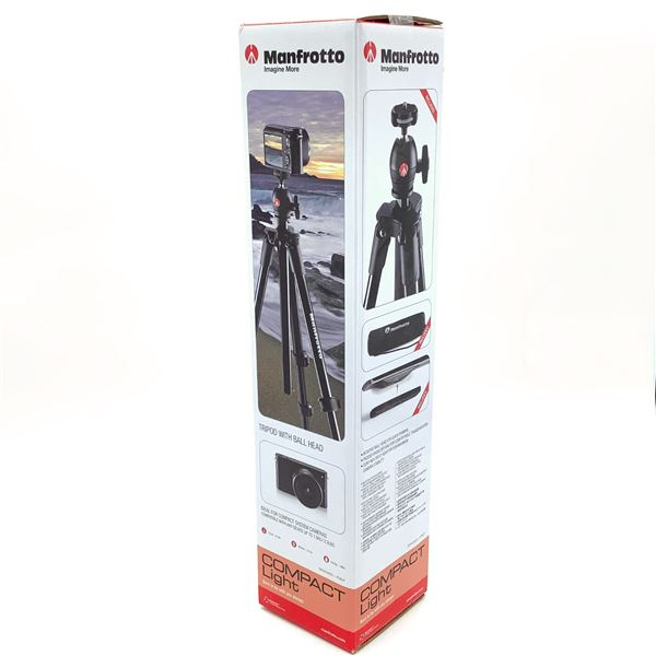 """Manfrotto Compact Light Tripod Kit with Ball-Head - 15.7"""" - 51.6"""", New"""