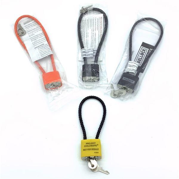 4 Keyed Cable Locks