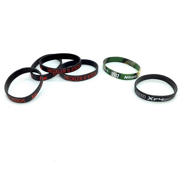 6 Assorted Branded Wrist Bands