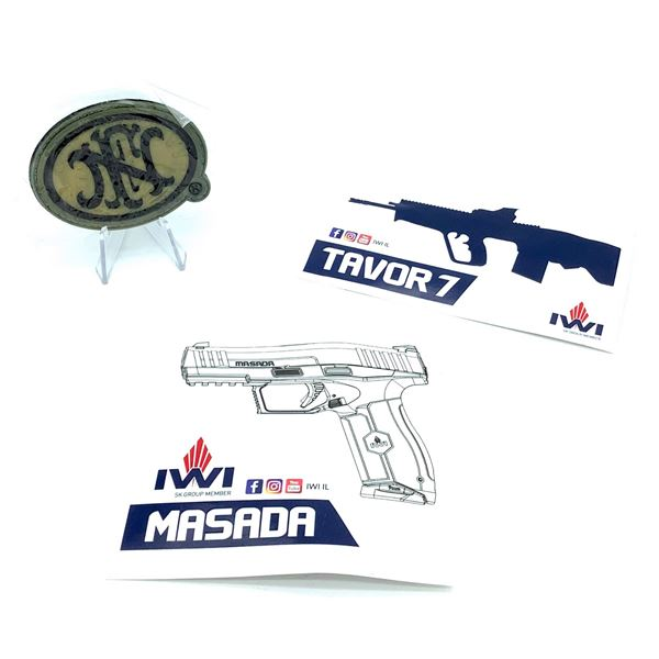 FN Velcro Patch & Assortment of IWI Stickers
